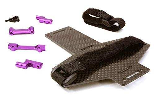 Integy RC Model Hop-ups C26870PURPLE Machined Battery Tray w/Composite Plate for Vaterra Twin Hammers 1.9 Rock Racer