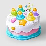 GizmoVine Cucina Giocattolo per Bambini Giochi Neonati Giocattolo Regalo Torta di Compleanno per Piccoli con Candele e Musica, Giocattoli per Bambini e Bambine di 1 2 3 4 Anni