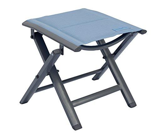 Meerweh luxe voetenbank voor volwassenen, bekleed met Quick Dry Foam, klapkruk, campingkruk, blauw, XXL