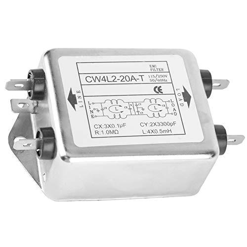 SANON 115V / 250V 20A 50 / 60HZ CW4L2-20A-T Terminal de Filtre EMI de Ligne Électrique