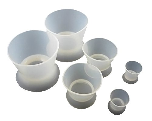 Zgood 6PCS Minneapolis Mall Lab Silicone Mixing 2L Ranking TOP2 Cup 2S Bowl 2M