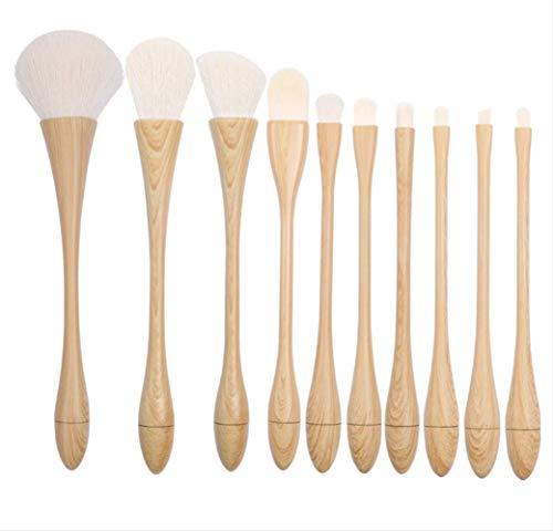 Kit De Maquillage Brosse 10 Pièces Fondation Blush Yeux Pinceau Beauté Maquillage Outil La-501 Manche En Bambou