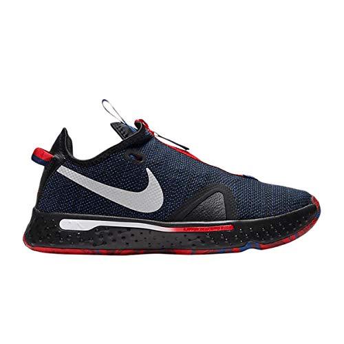 Scarpe Nike PG 4 Clippers CD5079-006 Uomo, (Nero/Rush Blue/University Rosso/Argento Metallico), 40.5 EU