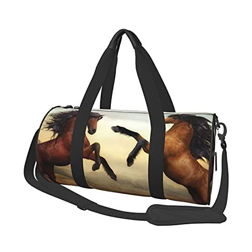 MBNGDDS Bolsa de viaje para caballos de correr, ligera, plegable, impermeable, con correa para el hombro, bolsa de gimnasio para hombres y mujeres, ver imagen, Talla única,