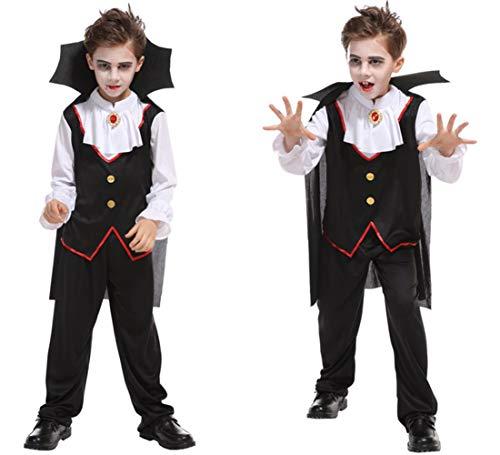 Jcyanz Kerstmis Carnaval Halloween Kostuum Bal Vampier Kostuum Jongen Aristocratische Ghost Prins aankleden kinderen Cosplay Kostuum