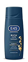 The E45 Rich 24HR Lotion provides deep moisturisation that lasts throughout the day Formulated with Evening Primrose Oil, known for its skin nourishing properties that help to lock and retain moisture within the skin No added colours or fragrances, d...