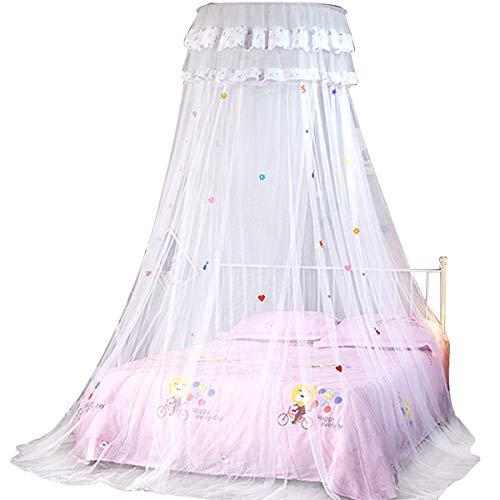 Betthimmel/Moskitonetz für Bett, runde Decke, für Mädchen – für 1,5 m breites Bett