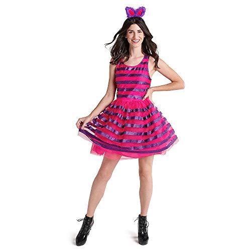 Disfraz de gato de Cheshire de Disney con tutú para adultos, Alicia en el País de las Maravillas Multi -  Multicolor -  señoras X-Large