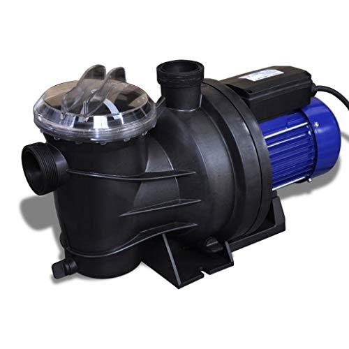FAMIROSA Schwimmbadpumpe Umwälzpumpe Poolpumpe Pumpe Elektronik blau 1200W