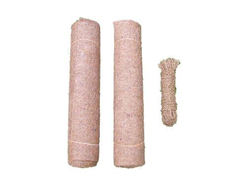 Unkrautschutzmatte aus Kokos, 150 x 50 cm, 10 mm dick, 2er Pack, incl. 15 m Kokosseil gratis (EUR 9,98/Stück), Pflanzenschutzmatte, Winterschutzmatte, Kompostabdeckmatte