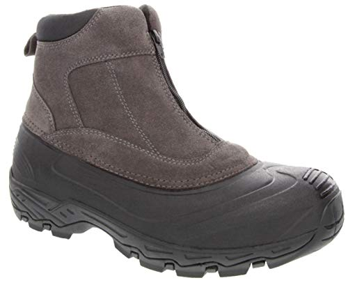 London Fog Mens Hamstead Waterproof and Insulated Cold Weather Snow Boot Grey 10