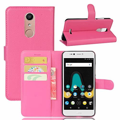 Wigento Booktasche Wallet Premium Pink für Wiko Upulse Lite Tasche Hülle