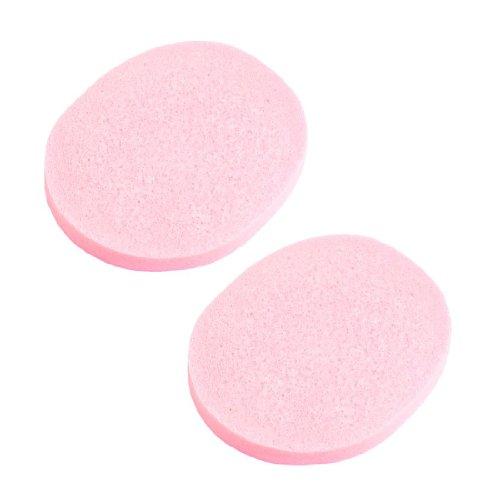 sourcingmap Tampon en éponge démaquillage nettoyage du visage ovale - Rose (lot de 2)