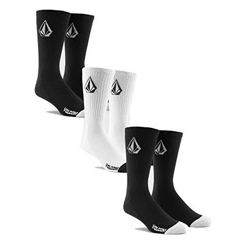 Volcom Full Stone Sock Herrensocken, Schwarz, Weiß, Einheitsgröße