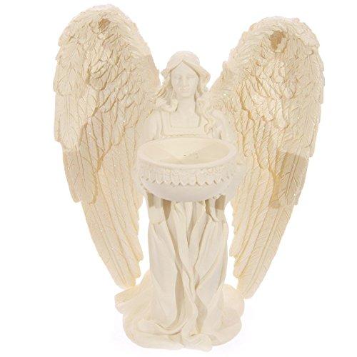 Puckator angp10Teelichthalter Engel auf Knie Harz Creme 15x 12x 18cm