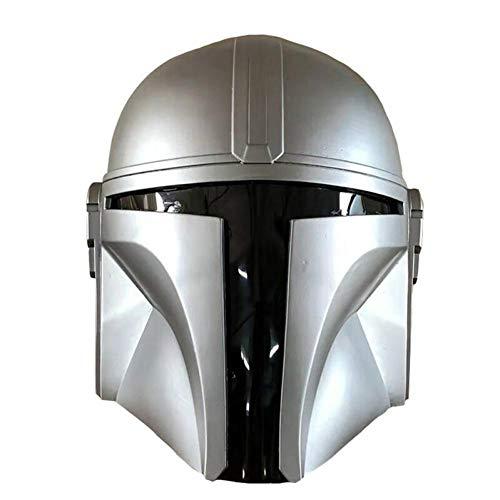 BYFRI Mandalorian Helm Kriege Cos Modell PVC Silber Weiß Spielen - Deluxe Adult Helm...