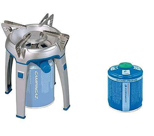 ALTIGASI Bivouac Réchaud à gaz Campingaz, puissance 2600 W, avec sac de transport, système cartouche amovible + 1 pièce cartouche à gaz CV300 de 240 g