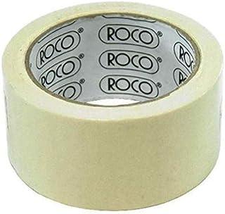 شريط لاصق من روكو، عرض 50 ملم × طول 25 ياردة، بيج
