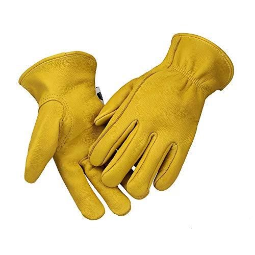 Kids Goatskin Gardening Gloves Work Gloves Children Outdoor Gloves 7-9 Years Old