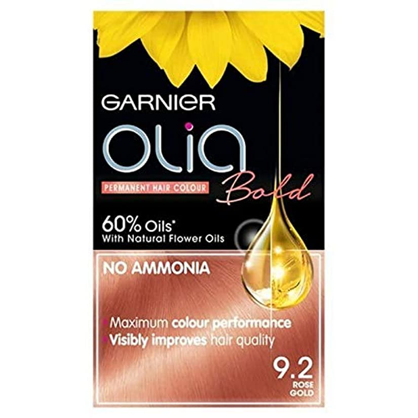 落ち着いた艶マーベル[Garnier ] ガルニエOlia大胆永久染毛剤には、金9.2ローズ - Garnier Olia Bold Permanent Hair Dye Rose Gold 9.2 [並行輸入品]