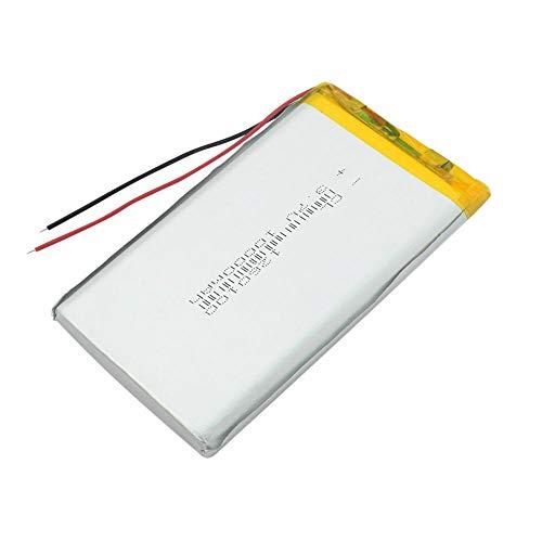 wangxiaoping 3.7V 10000mAh Lipo Battery 1260100 Tableta Recargable DVD Backup Li-Ion Li-Po Batería de Litio Li-polímero Batería de Repuesto-3,7 V_4 x batería