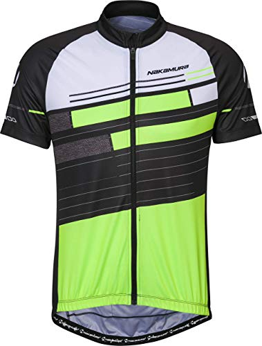 Nakamura Erie - Maillot de Ciclismo para Hombre, Hombre, Camiseta, 4036703, Negro/Verde,...