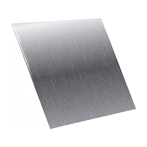 AIMIMI Aluminiumblech Silberplatte Guter Oxidationswiderstand Metallhandwerkmaterial zum Schweißen, Biegen und Schneiden von 300x300mm, Dicke,4mm