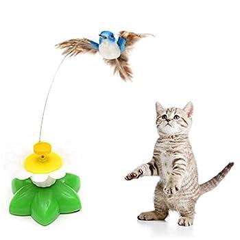Hosaire Jouet Électrique pour Chat Volant Oiseau Chat Jouets Animaux de Compagnie Interactive Jouets Animaux drôles et Amusants Jouets