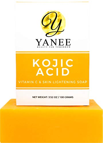 Vitamin C Soap with Kojic Acid - Orange Soap Bar Skin Gentle on Face and Body - For Men Women 3.52 oz