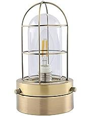 共同照明 マリンランプ E17 シーリングライト LEDシャンデリア電球付きGT-DJ282P-E17G-CB4W マリンライト クリア電球 40W形 電球色 フィラメント型 照明器具 おしゃれ アンティークスタイル インテリア レトロ ステンドグラス風 リビング ダイニング 間接照明 天井照明