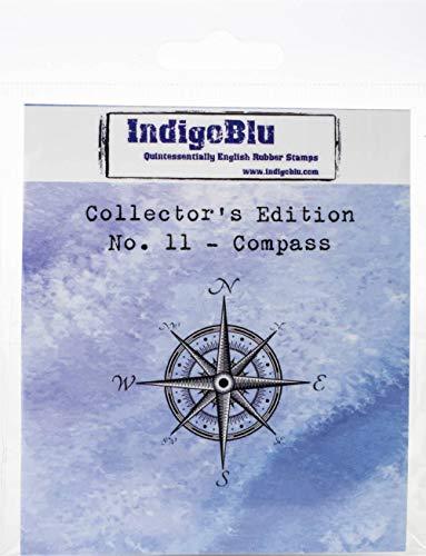 IndigoBlu IND0388 Collectors Edition Stempel zum Aufkleben, 5,1 x 5,1 cm, 11 Kompass