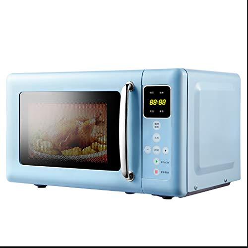 Encimera Retro Azul compacta del Horno de microondas, 0.7 pies cúbicos, Horno de 700 vatios con Pantalla LCD y Sensor Inteligente,