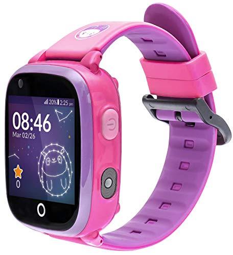 SoyMomo Space 4G - Reloj GPS para niños 4G - Reloj teléfono para niños - Smartwatch 4G con GPS para niños (Rosa)