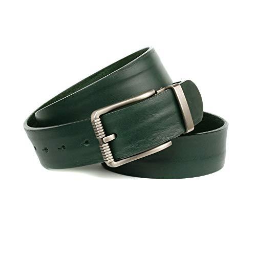 Anthoni Crown Ledergürtel Cintura, Verde, 115 Uomo