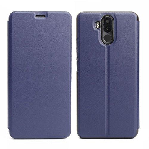jbTec Handy Hülle Hülle - Handyhülle Schutzhülle Phone Cover Tasche Handytasche Zubehör Smartphone Klapphülle Flip, Farbe:Navy-Blau, passend für:Ulefone Power 3