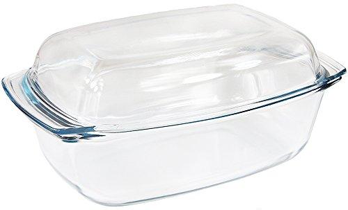 Termisil Glas Bräter mit Deckel Auflaufform Glasbräter Glaskochgeschirr L - XXL (6,8 Liter)