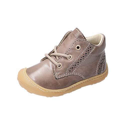 RICOSTA Unisex - Kinder Stiefel Kelly von Pepino, Weite: Mittel (WMS), Freizeit leger Boots schnürstiefel Leder Kids junior,kies,21 EU / 5 Child UK