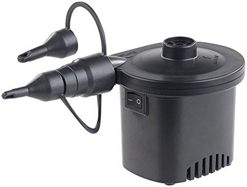 infactory Elektrische Luftpumpe: Akku-Luftpumpe mit 3 Ventil-Aufsätzen und USB-Ladekabel, 200 l/Min. (Akku Luftpumpe Schlauchboot)