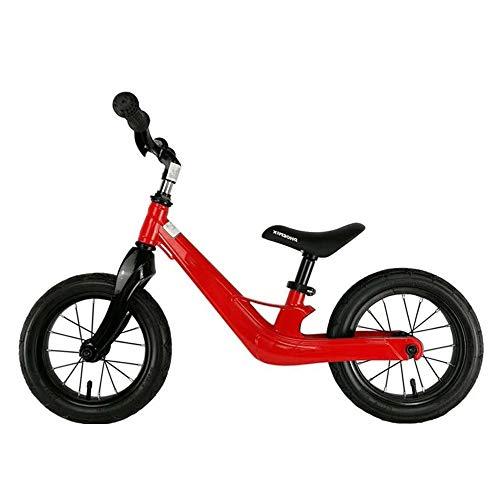 YUMEIGE Balance Bikes Sport Balance Bike Hoge Multi-range Aanpassing, Peuter Balance Bike 360 Roterende Stuur om Meer Acties, Kids Glider Fiets, Lading 25kg 2-7 Jaar 2018 red