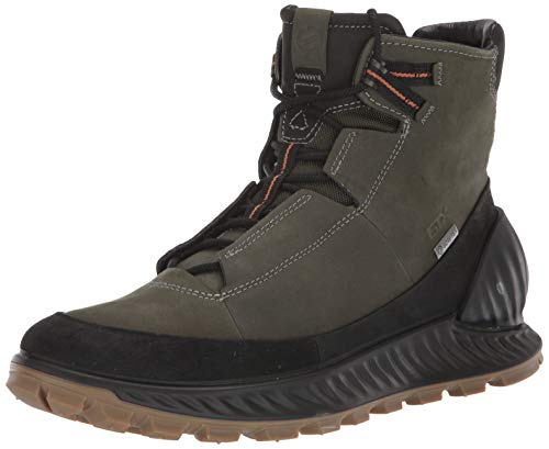 ECCO Men's Exostrike Gore-tex Hiking Boot, Black/Deep Forest Yak Nubuck, 40 M EU (6-6.5 US)