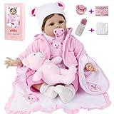 ZIYIUI Reborn Baby Doll Bebés 22 Pulgadas Muñeca Realista Niñas 55cm Realista Suave Vinilo Silicona Reborn Muñecas Recién Nacidos Real Lindo Reborn Niño Juguetes