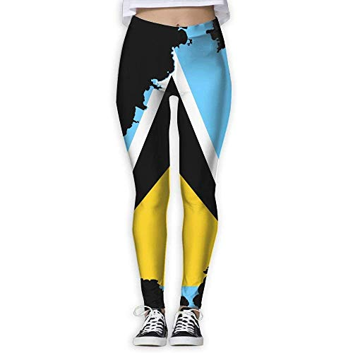 Yuanmeiju Yoga Pantalones Saint Lucia's Flag Trousers SweatP