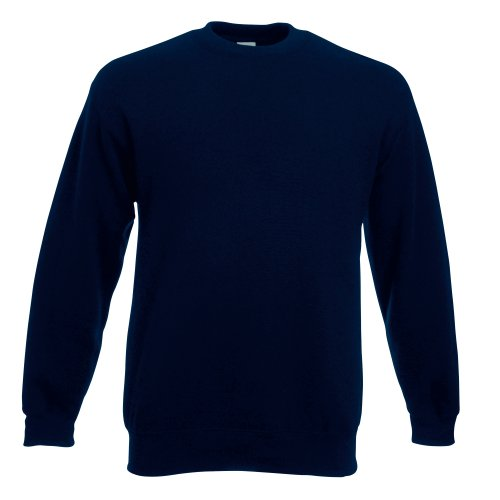 Fruit of the Loom Herren Sweatshirt Premium Set-In Sweat 62-154-0 Deep Navy XXL