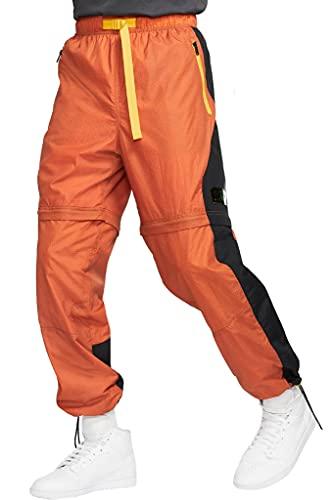 Nike Pantalones de chándal convertibles para hombre Jordan 23 Engineered - naranja - Large