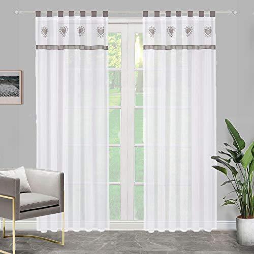 cortinas salon con trabillas