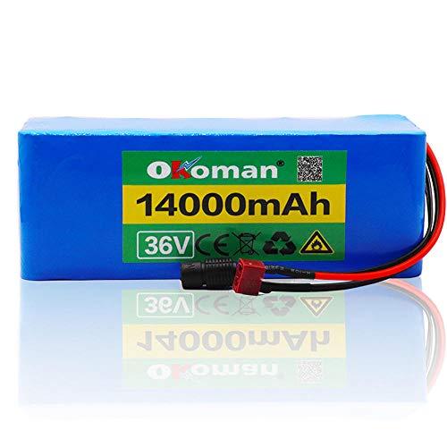 clasificación y comparación Batería de bicicleta eléctrica 36v10S4P 14ah 500w High Power 36v18 650 Pack … para casa