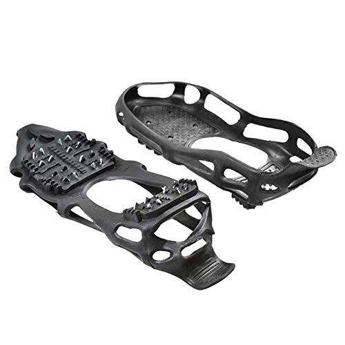 UNJ Herren Damen Anti Skid 24 Nail Skates Crawler Typ Anti Skid Schuhe Eissplint, Einfach an- und auszuziehen, Geeignet für Stiefel, Sportschuhe und Freizeitschuhe