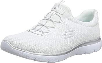 Skechers Women's Summits Sneaker, White (White/Silver), 8.5 M US