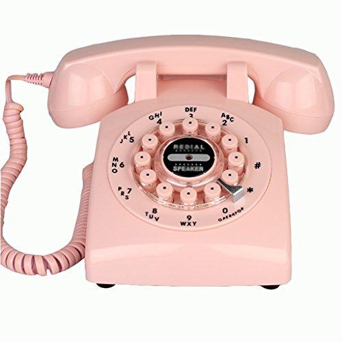 Fournir Un téléphone à la Maison, Rétro Téléphone Européenne Mode Téléphone Salon Maison Chambre Creative Landline Antique Vintage Landline (numérotation Clé) Ligne Fixe européenne, (Color : Pink)