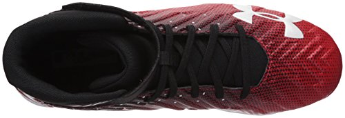 Under Armour Men's Harper 2 RM Baseball Shoe, Black (061)/Red, 10.5